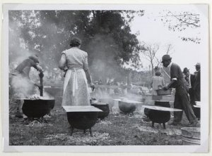 America, 1940s, food, culture, gatherings, events
